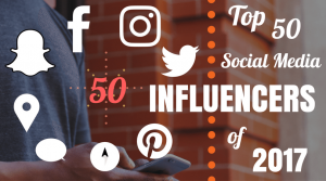 Stephen Monaco Named Among the Top 50 Social Media Influencers of 2017
